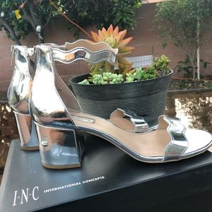 {INC} Hadwin Holographic Sandals size 10W